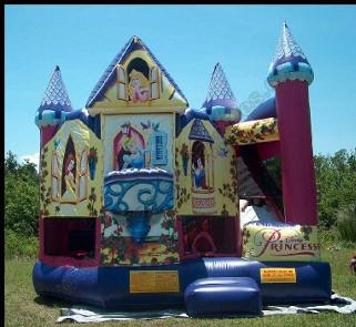 Large Princess castle with slide