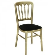 Banq Chair Gilt also available in Silver and Natural