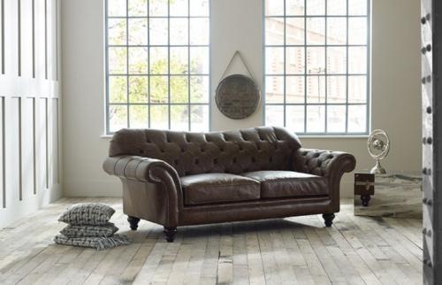Drummond Vintage Brown Leather Sofa