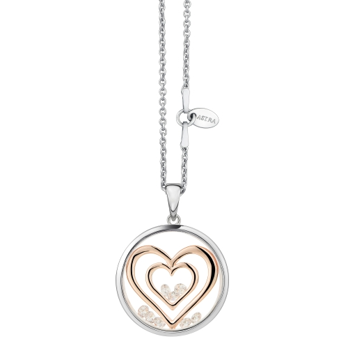 ASTRA Double Heart Silver Pendant