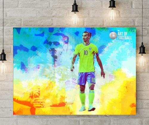 Sweden Zlatan Ibrahimović Football Canvas Art