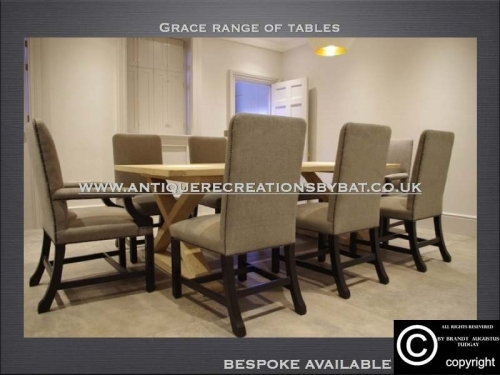 French X Frame Grace Range Dining Tables - www.bespokefurnituremakers.company