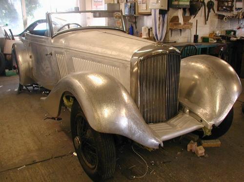 Derby Bentley showing panelwork