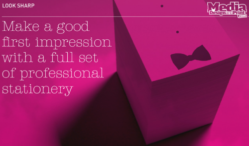 Make sure your company looks the part, with our beautiful printed stationery
