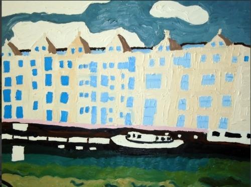 Bristol Riverfront Oil on canvas 76cm x 61 cm 250