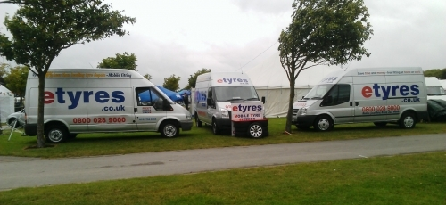 Three Vans At Woodvale