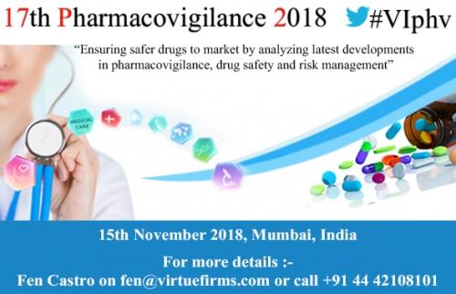 17th Pharmacovigilance 2018