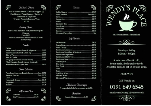 Wendys Place | Menu2