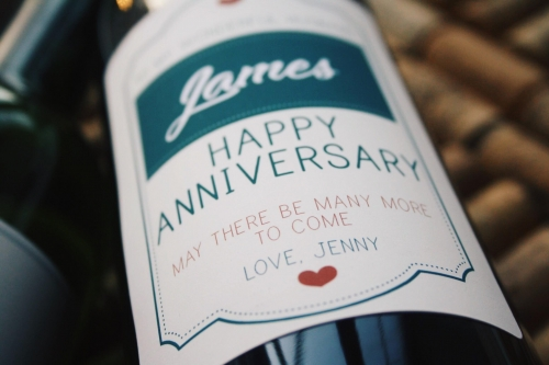 Personalised Wine - Anniversary