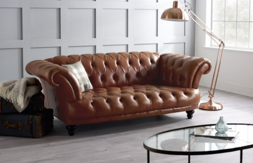 St Edmund Vintage Leather Sofa