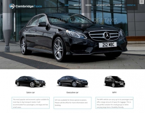 Projects: Car Hire - Chauffeur Website
