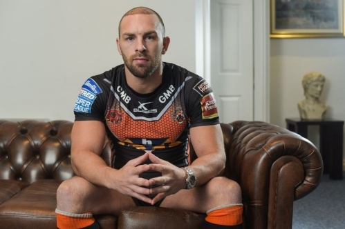 Luke Gale of Castleford and England Rugby league International post operative at Baruch Hair Transplant Centre