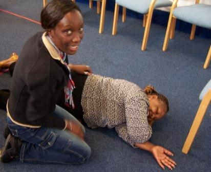 Recovery position in London