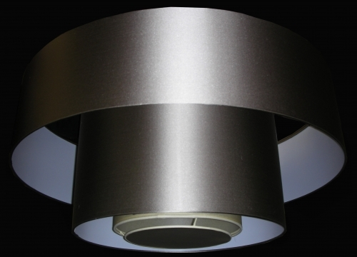 Grey Triple Drum Lampshade With Diffuser