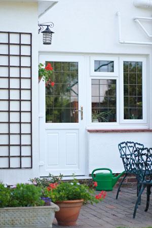 Rear door and window combinations