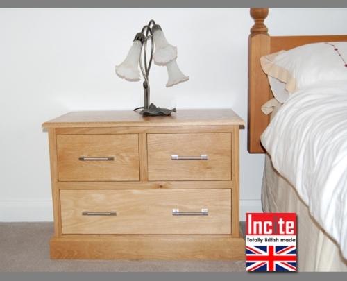 Bespoke Oak 2 Over 2 Bedroom Chest custom made bedroom furniture by Incite Interiors Derbyshire