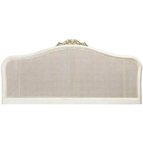 Ivory French Inspired Rattan Headboard