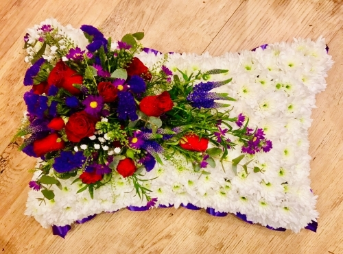 Pillow wreath for funeral