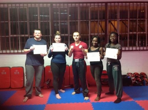 Beginners receiving their certificates!