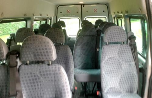 16 Seater Minibus Inside
