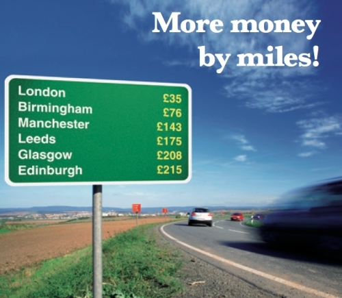 More money by miles!