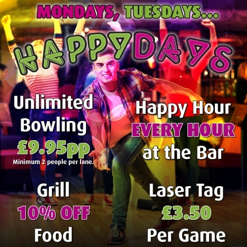 Happy Days - Available every Monday and Tuesday Term Time Only