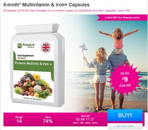 6-mnth Multivitamin & Iron+ Capsules.