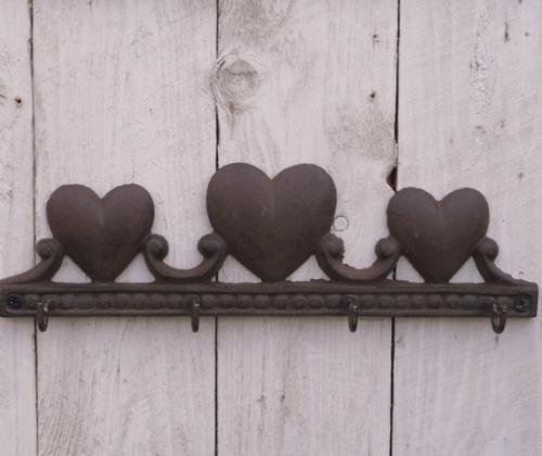 Cast Iron Love Heart Hooks - £5.99