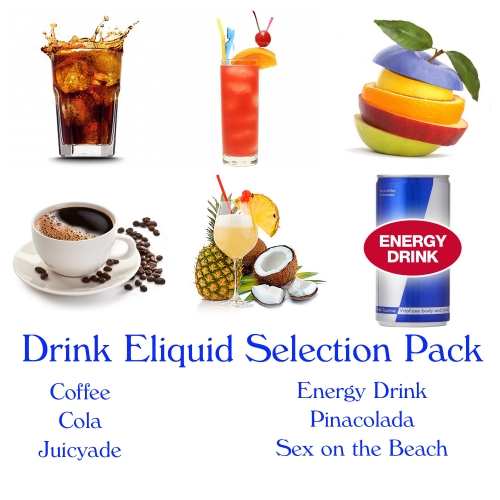 6 Eliquid selection pack : drink