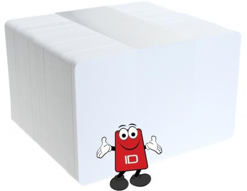 30 mil WHITE PVC Cards | Plus-Card | Priced & Sold p/100 pk