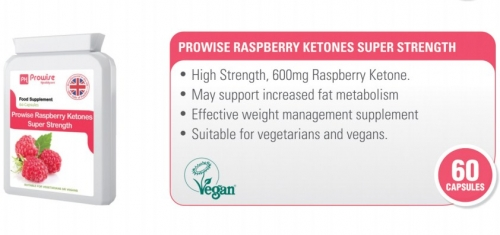 Prowise Raspberry Ketones 60 Capsules 600mg UK Made