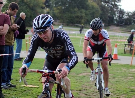 Andy racing Cross in the London league