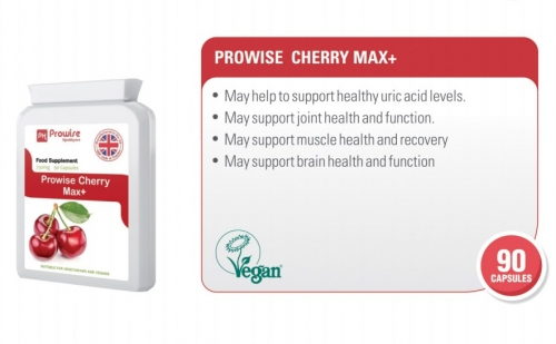 Prowise Cherry Max 90 Capsules 750mg UK Made