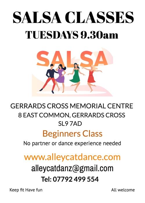 Salsa Dance Classes Tuesdays in Gerrards Cross, Bucks
