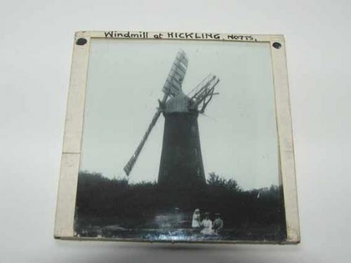 Glass slide from 1905 Green Windmill, Nottingham