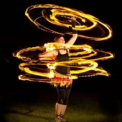 Kat Collett 3 Fire Hoops