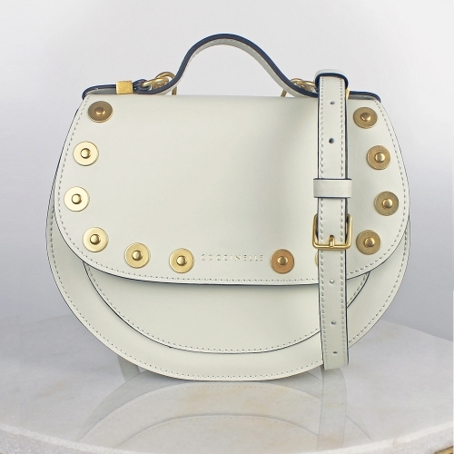 Coccinelle Small Studded Bag Chalk