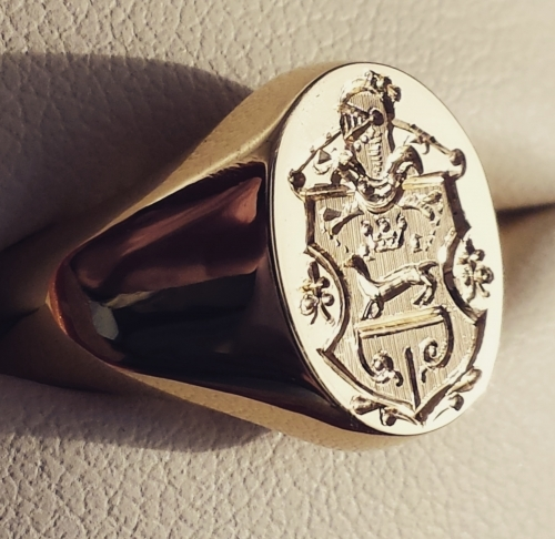 Family Coat Of Arms Engraved For Show