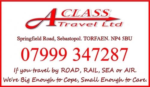 A Class Travel Business Card