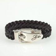 Bibi Bijoux Black Weave Buckle Bracelet
