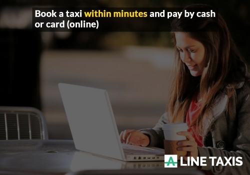 Book a taxi and pay by cash or card