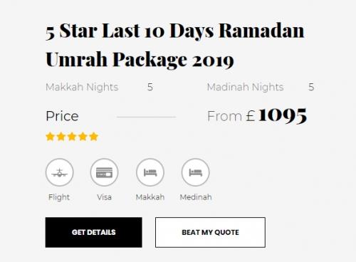 5 Star Ramadan Umrah Package