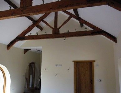 vaulted ceilings and arched windows are a speciality