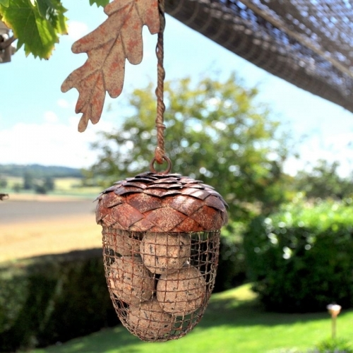 Rustic Acorn Fat Ball Feeder - £18.00