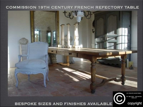 French refectory table range- many variations available. www.bespokefurnituremakers.company