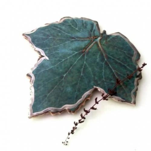 Ceramic Leaf Coaster