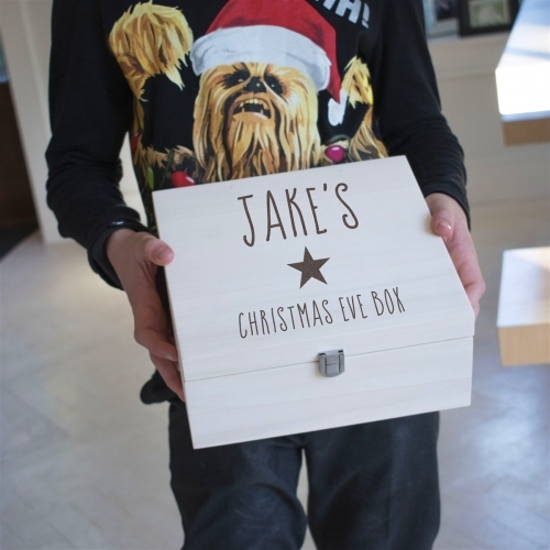 Personalised Christmas Eve Gift Box with Name and Star