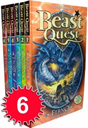 Beast Quest Series 1 6 Books Collection Set