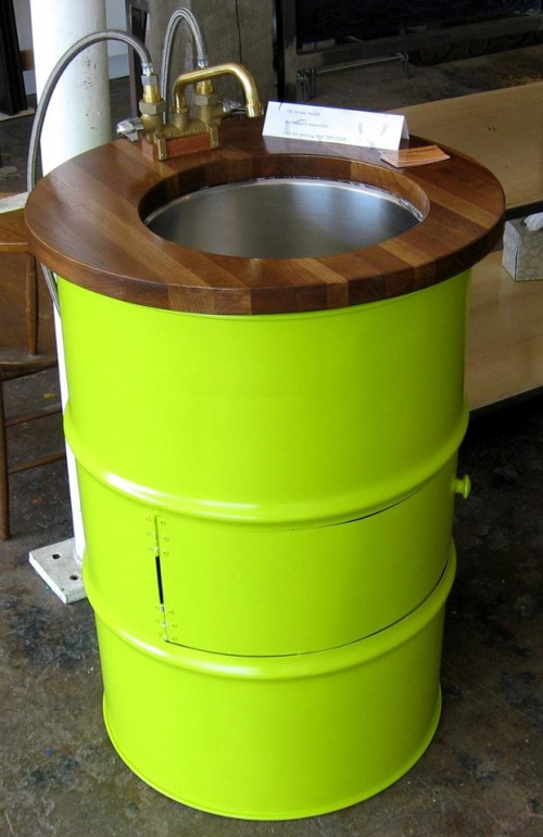 Steel drum furniture
