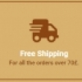 Free shipping for orders over £70